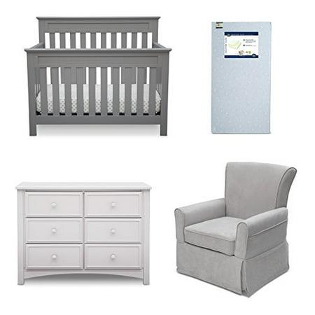 Delta Children Chalet 4 Piece Mix Match Nursery Furniture Set Convertible Crib