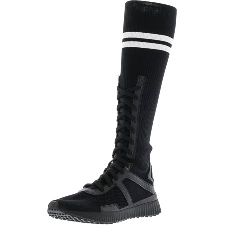 run shoes highly coveted range of fashionable style Puma Women's Fenty Trainer Hi Black / White Knee-High Fabric Boot - 7.5M