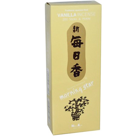 Nippon Kodo - - Vanilla 200 Sticks and Holder, Morning star has been one of Nippon Kodo's best-selling products over the past 40 years By Morning