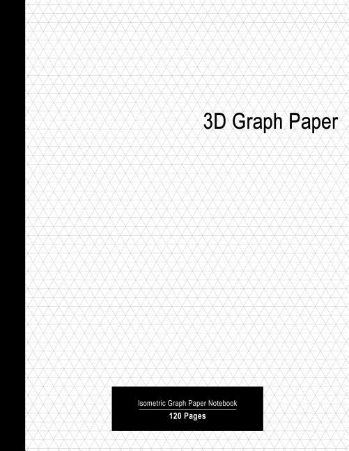3d graph paper  premium 3d isometric graph paper notebook