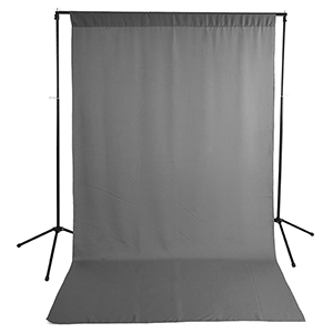 Savage Gray Wrinkle-Resistant Background with Optional Stand(Sold Separately)