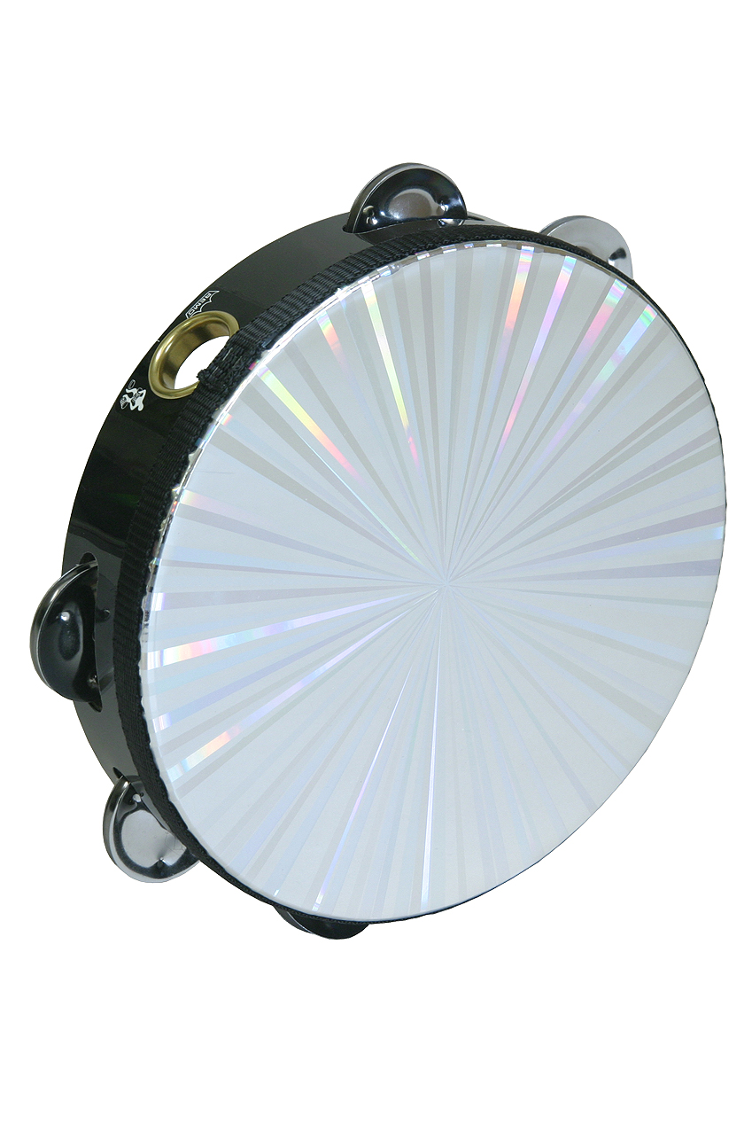 """Remo Radiant Tambourine w  8-Pair Jingles 1-Row 8"""" by Remo"""
