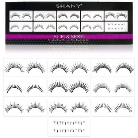 SHANY Eyelash extend - set of 10 assorted reusable eyelashes - Thin Collection](Purple Eyelashes)