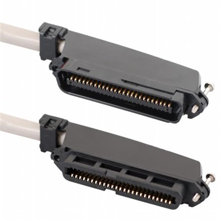 ICC ICPCSTFM05 Female To Male 50 Pin Telco connectors CAT 3 Telco cable, 5 ft.