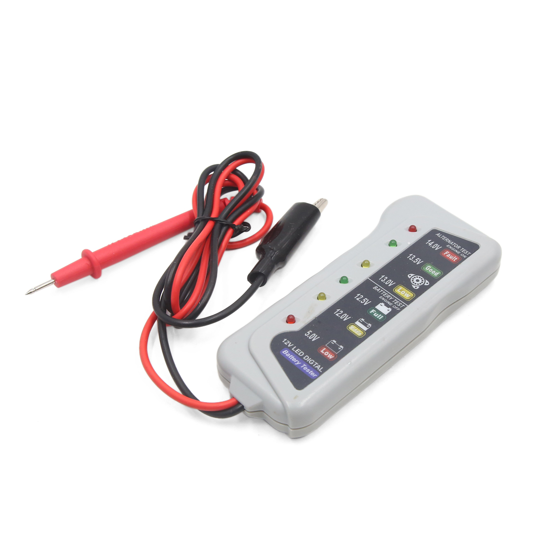 12V 6  Light Display Battery Tester Analyzer Car Alternator Monitor Device