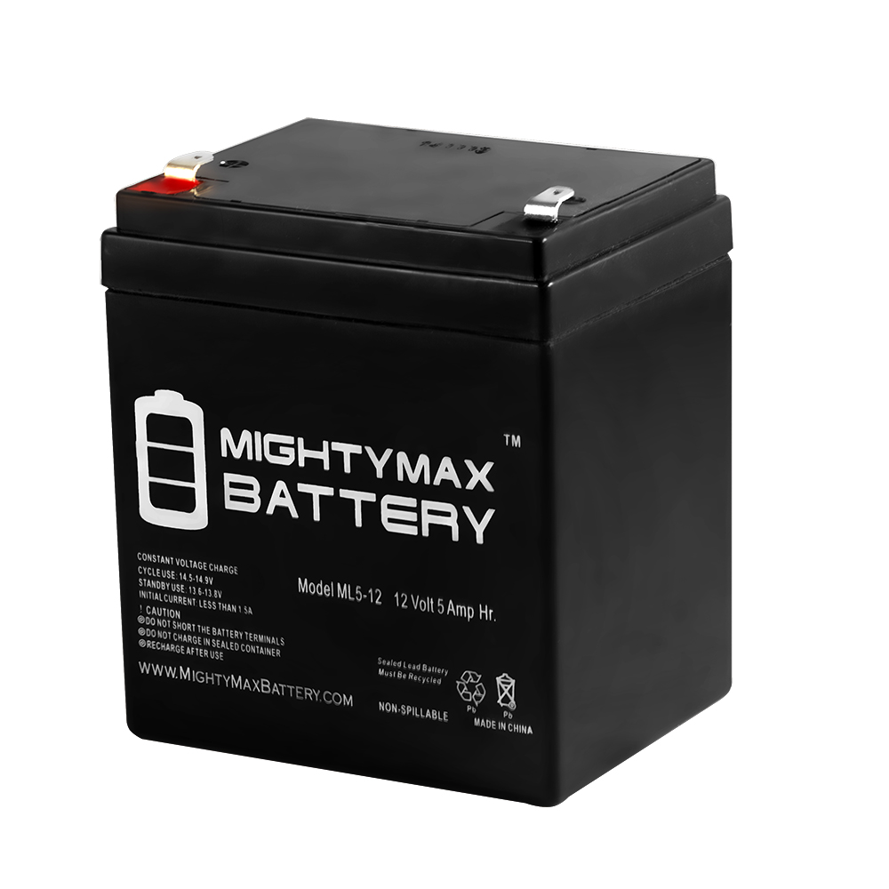 ML5-12 - 12V 5AH Battery for Razor E100 E125 E150 E175 Electric Scooter - Mighty Max Battery ® brand product