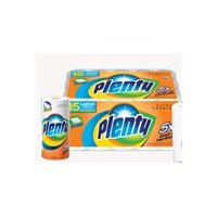 Plenty 2 Ply Premium Paper Towel - White Full Sheet Towels |Pack of 1 -15 rolls per pack- 52 sheets per rolls (780 Sheets)