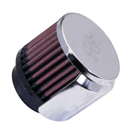 K&N Engineering 62-1515 Rubber Base Crankcase Vent Filter with Shield - 1-3/4in. (Rubber Base Crankcase Vent Filter)