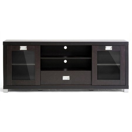 Bowery Hill 57.5″ TV Stand in Dark Brown