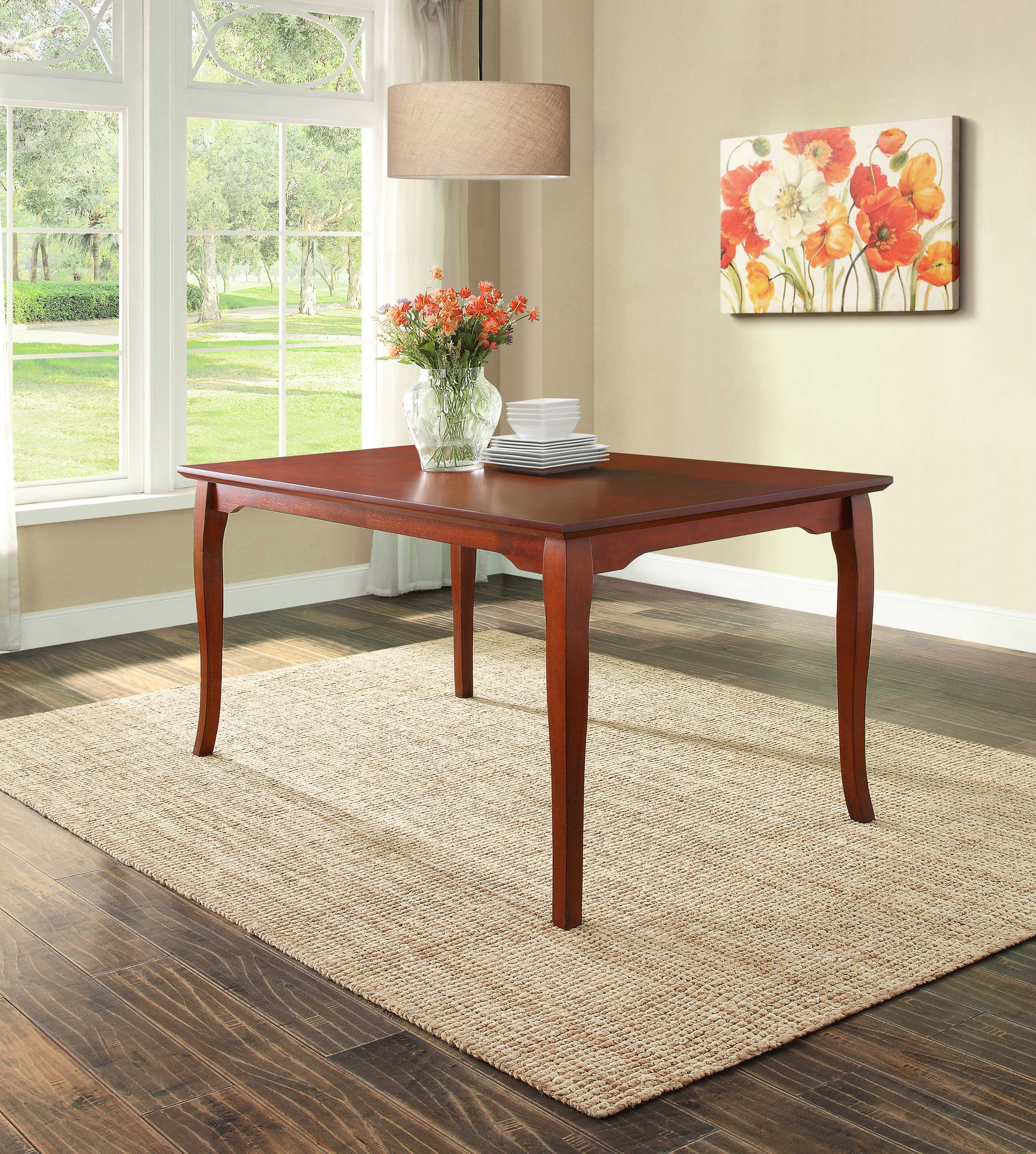 Better homes and gardens autumn lane farmhouse dining table white and natural for Better homes and gardens customer service