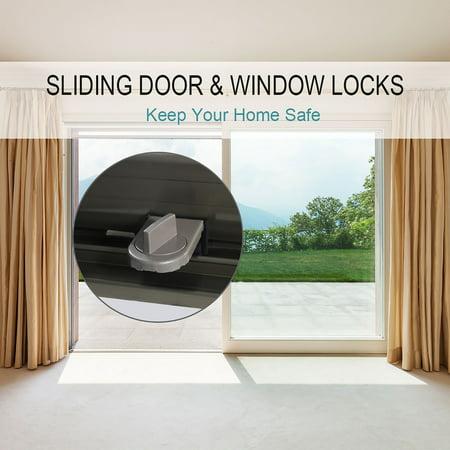 3pcs Metal Sliding Window Door Locks Transom Window Door Stopper No Tool Need for Home,
