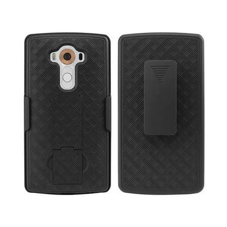 Cellet Shell Plus Holster Plus Kickstand Combo Case for LG V10