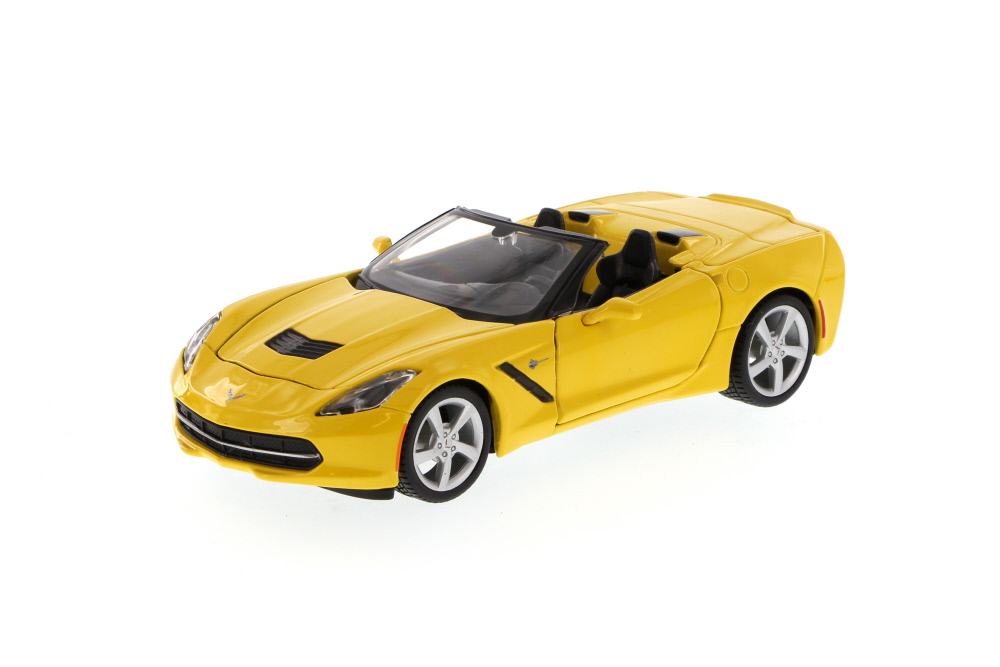 Chevy Corvette Stingray Convertible, Yellow Maisto 34501 1 24 Scale Diecast Model Toy Car... by Maisto