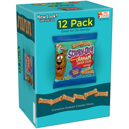 (4 Pack) Keebler Scooby Doo! Baked Graham Cracker Sticks - Cinnamon, 1 Ounce Packages, 12 - Halloween Treats With Graham Crackers