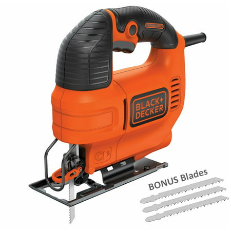BLACK+DECKER 4.5-Amp Jig Saw With Bonus Jig Saw Blades, - Powerful Jigsaw