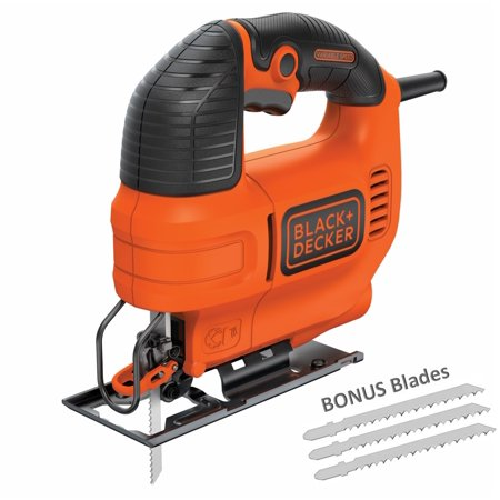 BLACK+DECKER 4.5-Amp Jig Saw With Bonus Jig Saw Blades,