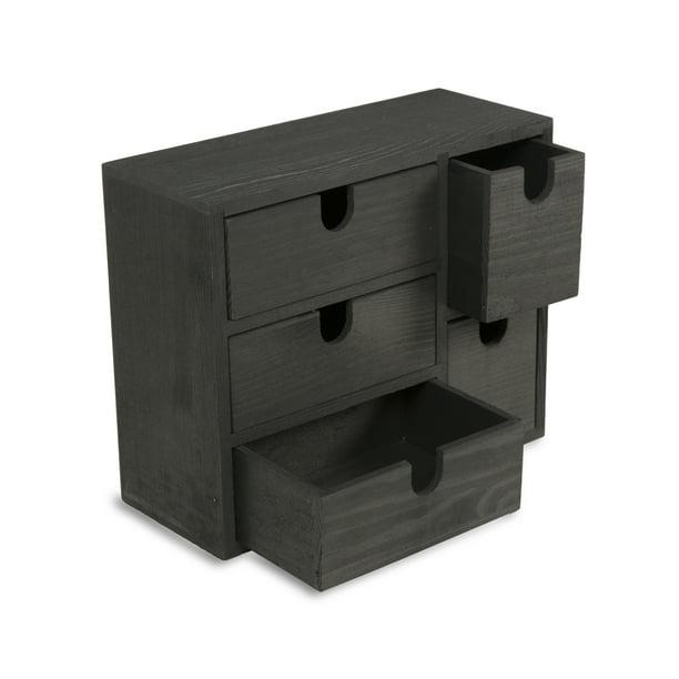 Multi Purpose Desktop Organizer Caddy, Desktop Drawers Wood