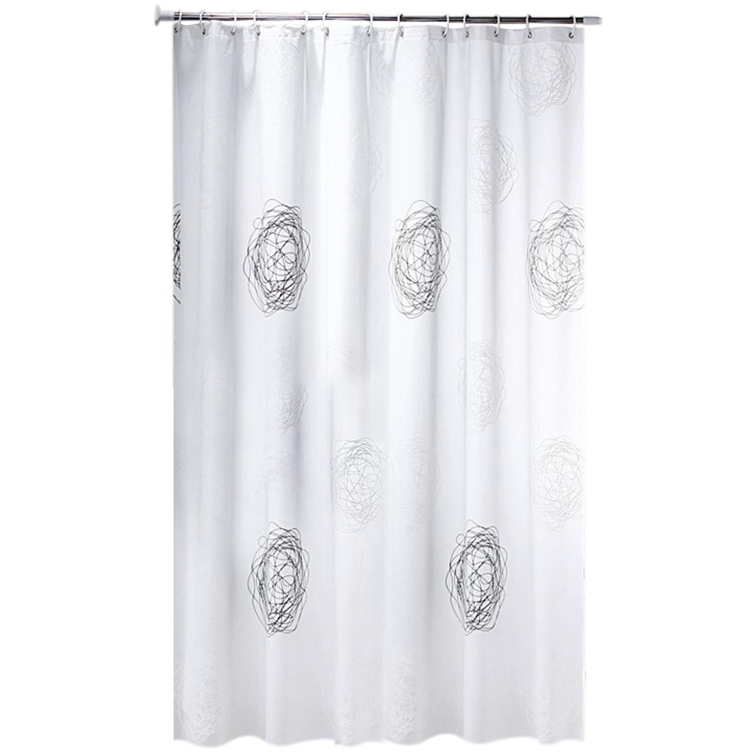 Home Garden Winter Snow Pine Forest Shower Curtain Set