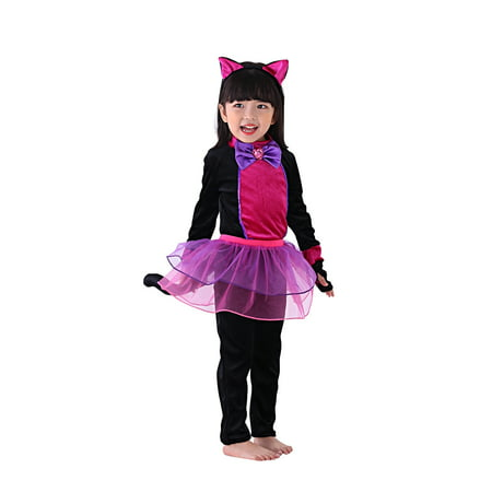 So Sydney Kids, Toddler, Girls' Deluxe Black Cat with Tutu Halloween Costume or Outfit - Hissing Black Cat Halloween