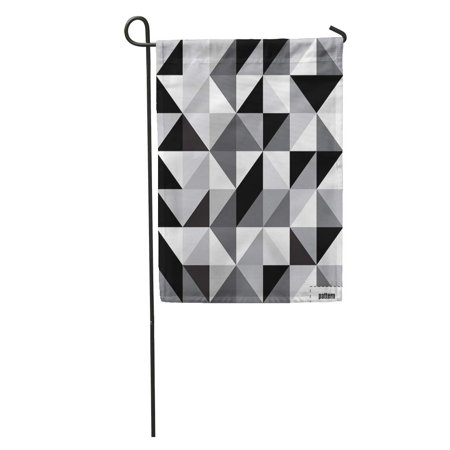 JSDART Gray Geometric Black and White Triangle Pattern Abstract Grey Diamond Garden Flag Decorative Flag House Banner 12x18 inch - image 1 of 2