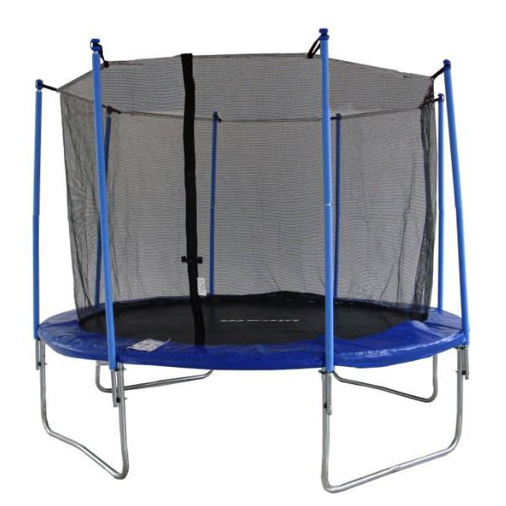 OUTAD 14  Inch Round Trampoline Enclosure Net Replacement Netting 4 Arch 8 Poles·New