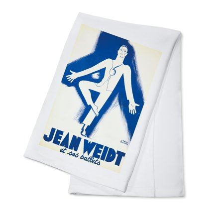 Jean Weidt et ses ballets Vintage Poster (artist: Paul Colin) France c. 1938 (100% Cotton Kitchen Towel)