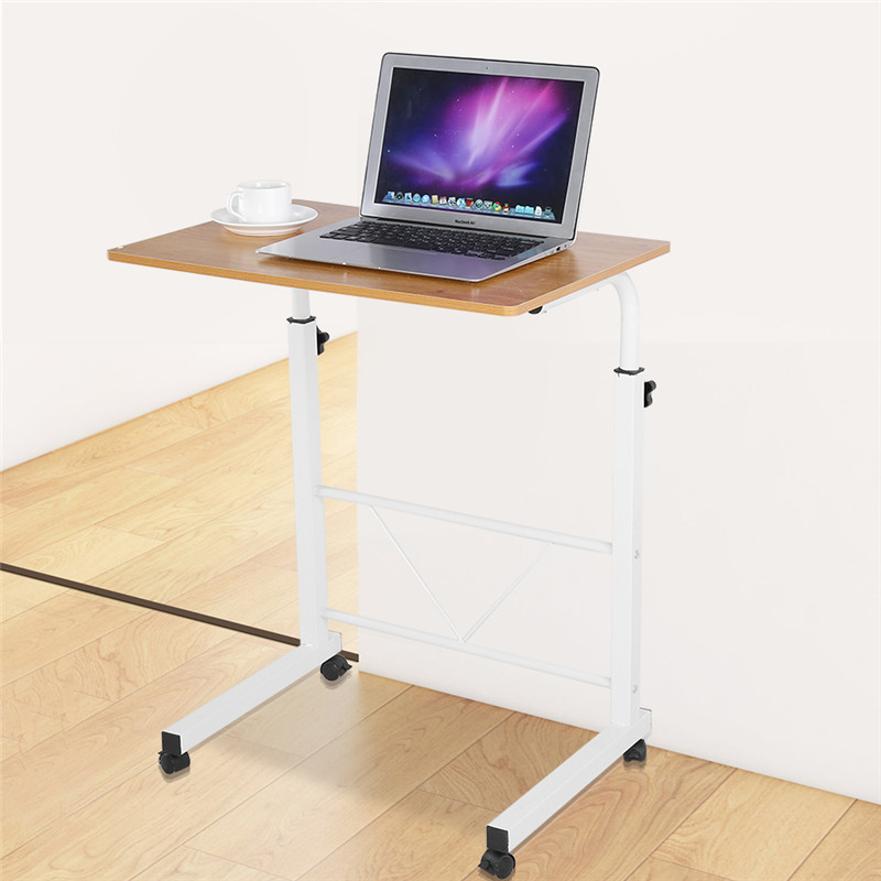 Laptop Rolling Cart Portable Desk Adjustable Height Laptop Desk Cart