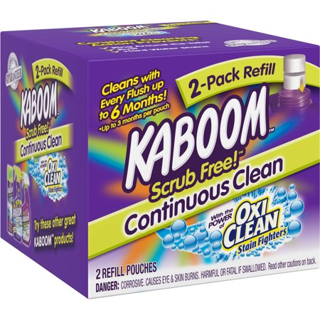 Kaboom Scrub Free! Toilet Cleaning System Refill Pouches, 2 count