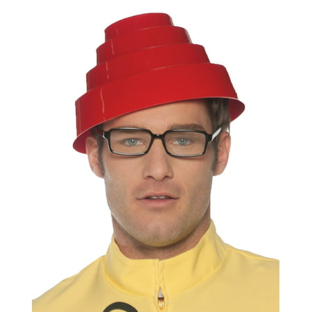 Devo Hat Adult Halloween Accessory - 80s Halloween Hats