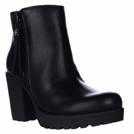6801a6c56320 Madden Girl - Womens madden girl Como Casual Platform Boots - Black -  Walmart.com