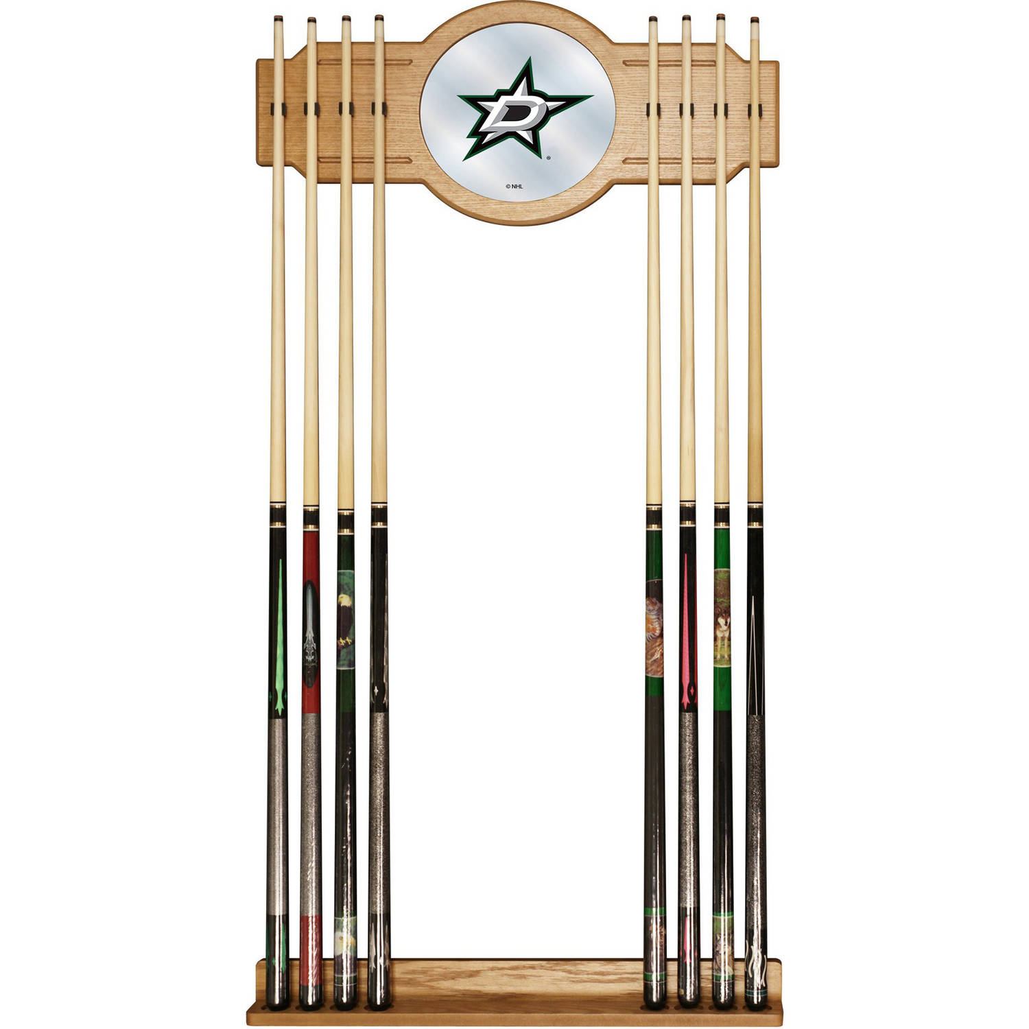 NHL Cue Rack with Mirror, Dallas Stars