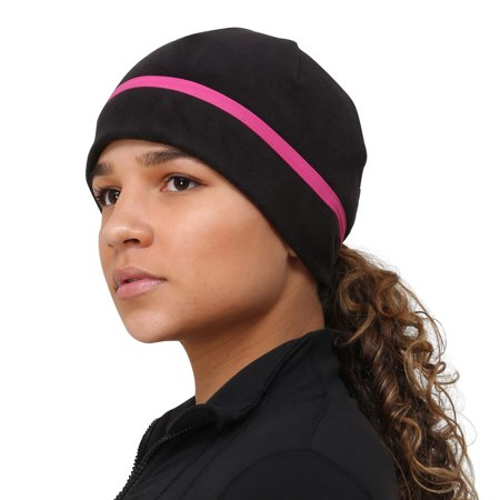Trailheads - TrailHeads Women s Ponytail Hat - Reflective Cold Weather Running  Beanie - black pink snowflake - Walmart.com fd42d8ee801