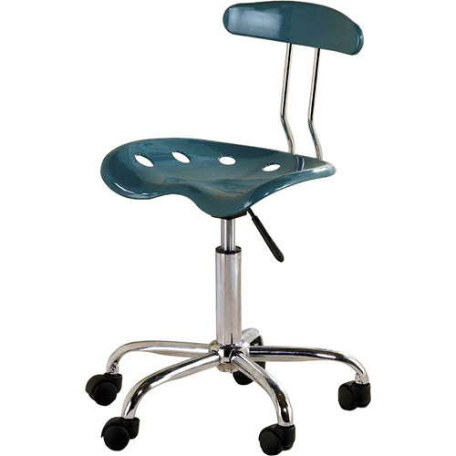 Computer Task Chair with Tractor Seat, Teal