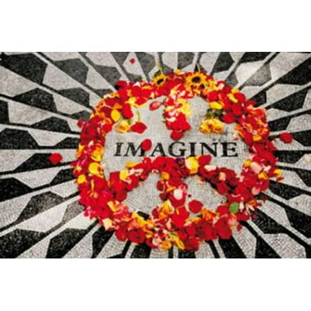 Imagine (John Lennon Memorial) Music Poster Print Poster - 36x24 - John Lennon Memorial