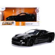Jada Bigtime Muscle Series: 2006 Chevy Corvette Z06 (Black) 1/24 Scale Car Play Vehicle