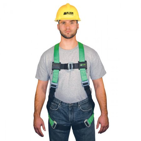 Miller by Honeywell Universal HP Non-Stretchable Full Body Style Harness With Back And Side D-Ring, Tool Belt Loop, Friction Shoulder Strap Buckle, Tongue Leg Strap Buckle, Mating Chest Strap Buckl D-ring Belt Loop
