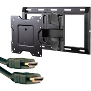 """Omnimount OC120FM 43""""-70"""" Classic Series Large Full-Motion Mount and Axis 41204 High-Speed HDMI Cable with Ethernet, 9'"""