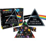 Pink Floyd Dark Side of the Moon Collage & Prism 600 pc Two-Sided Tria