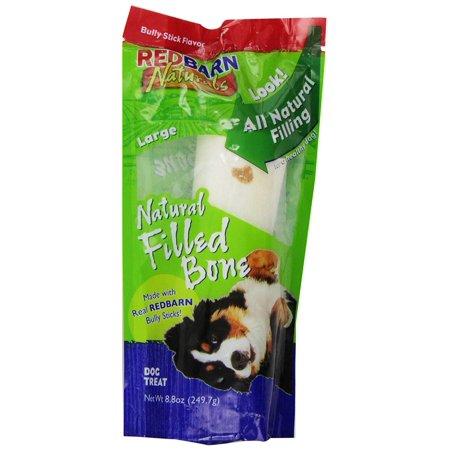 Redbarn Bully Filled Bone, Large , 1-Pack, Natural Filled Bone. Dog Feeders By REDBARN NATURALS