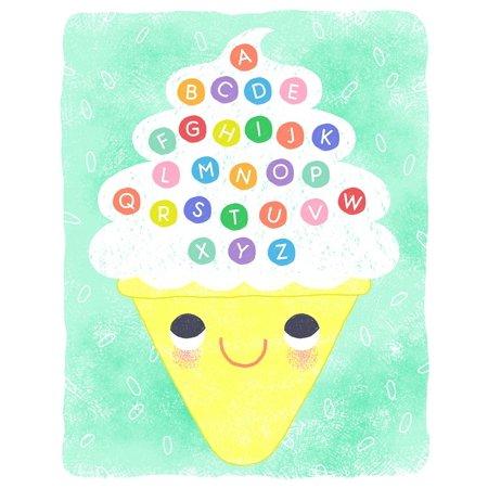 Ice Cream Alphabet Poster Print by Lizzy -