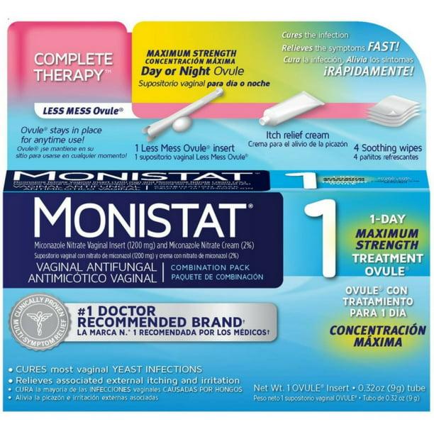 3 Pack Monistat 1 Day Maximum Strength Vaginal Antifungal