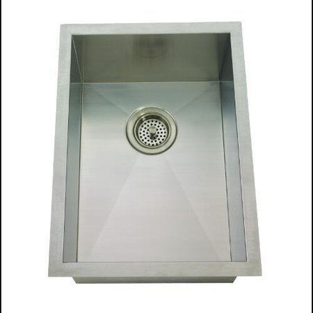 Mirabelle Miruc1520z 15 Single Basin Stainless Steel Bar Sink