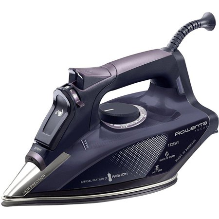 Rowenta Dw5197 Partner Of Fashion Focus Steam 1725 Watt Micro Steam Iron With Stainless Steel Soleplate  400 Hole  Purple