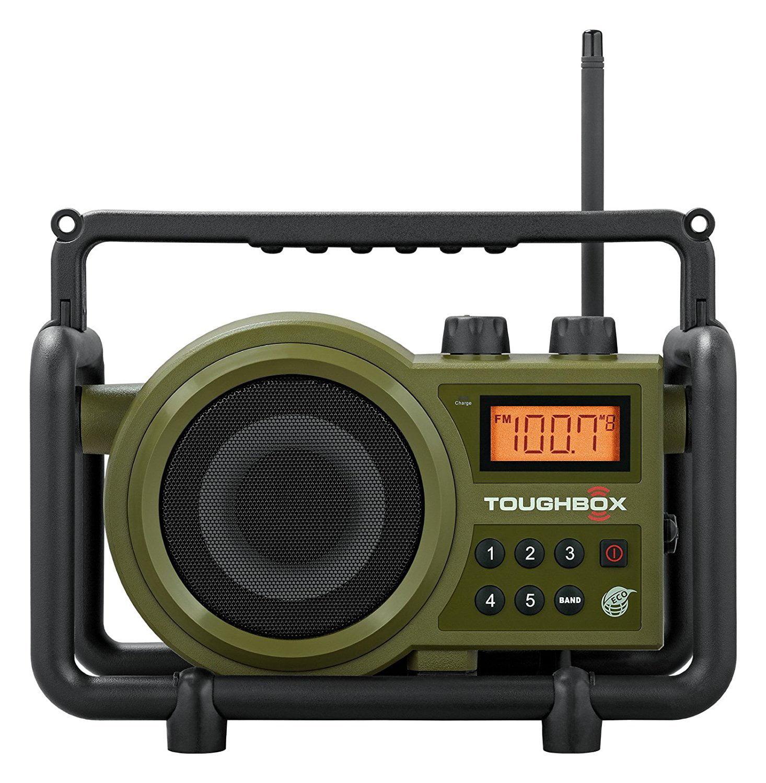 Fm Radio Rechargeable, Sangean Am Handheld Rugged Radio Rechargable, Green by BY-SANGEAN