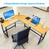 90° L-Shaped Desk Corner Latop Computer PC Wood Metal Table w/ CPU Stand Home Office DIY Furniture