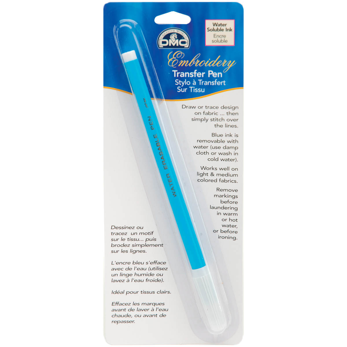 DMC Embroidery Transfer Pen-Blue