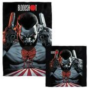 Bloodshot Guns Drawn Face Hand Towel Combo White