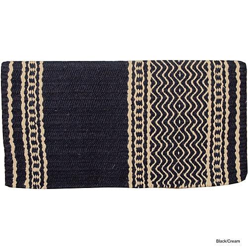 Mustang New Zealand Wool Blanket Black/Cream