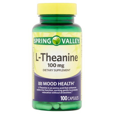 Spring Valley L-théanine complément alimentaire, 100 mg, 100 count