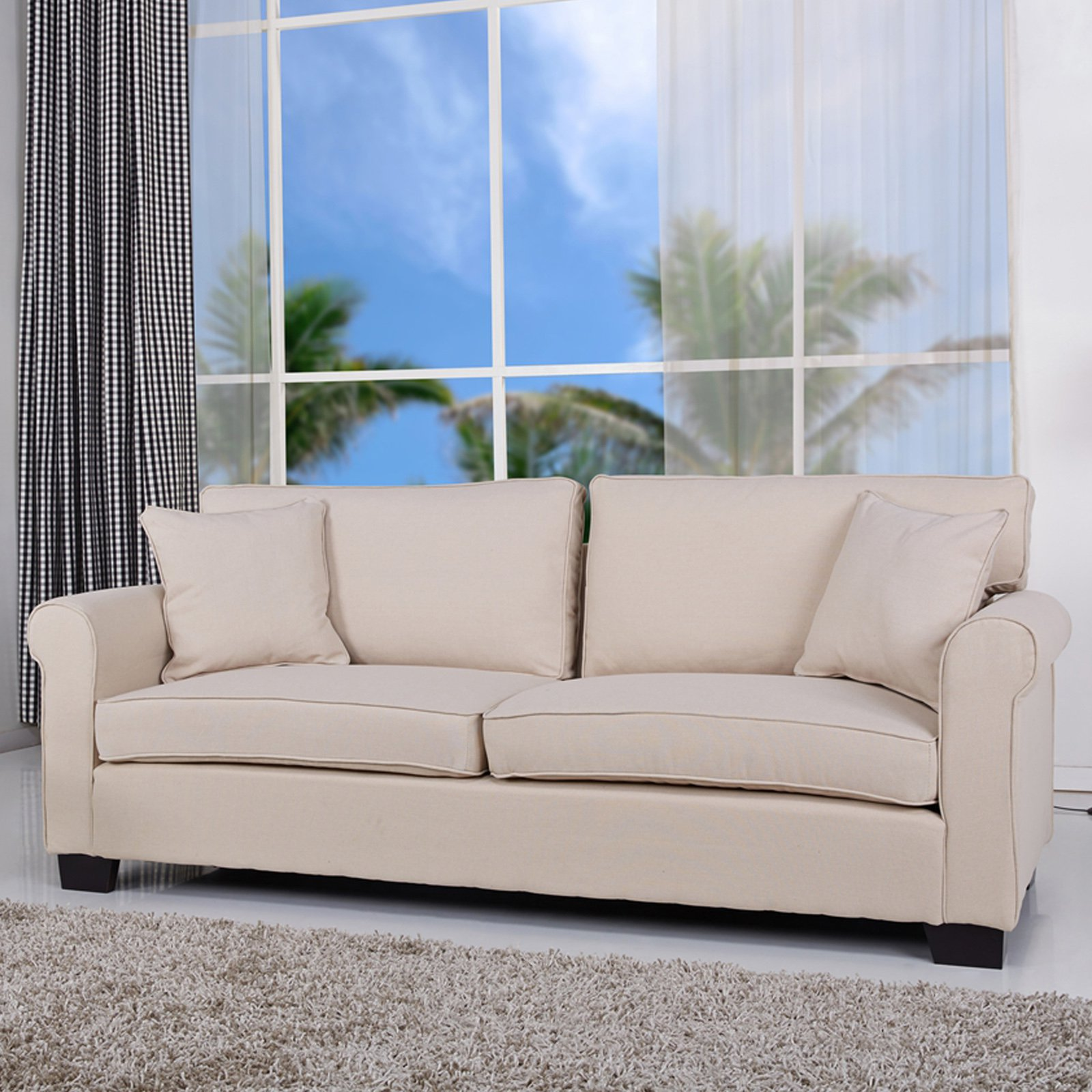Gold Sparrow Pittsburgh Microfiber Sofa